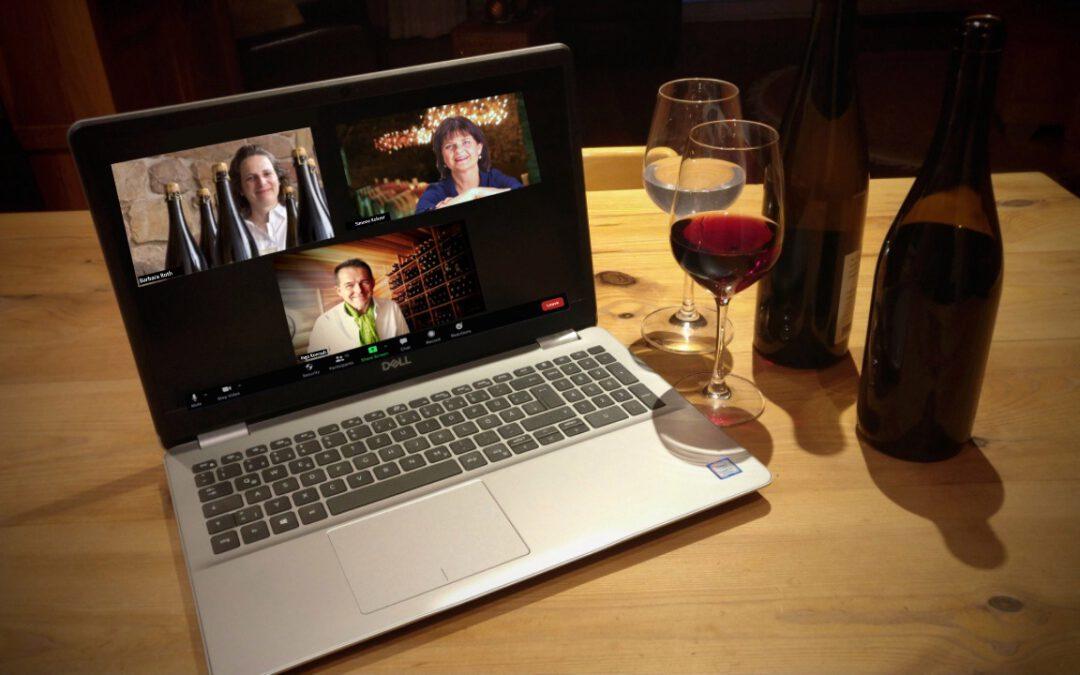 Wein-Comedy als Weinprobe@Home